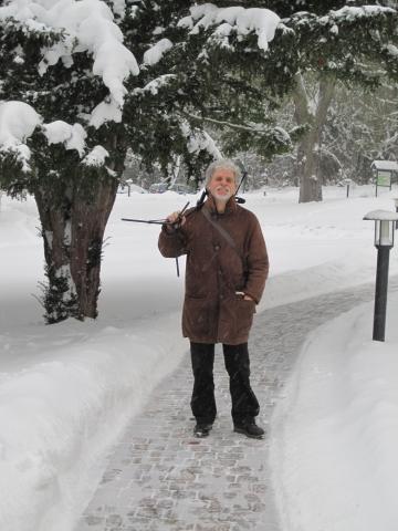 Rainer Kimstedt im Schnee, Seddin 30.01.2010