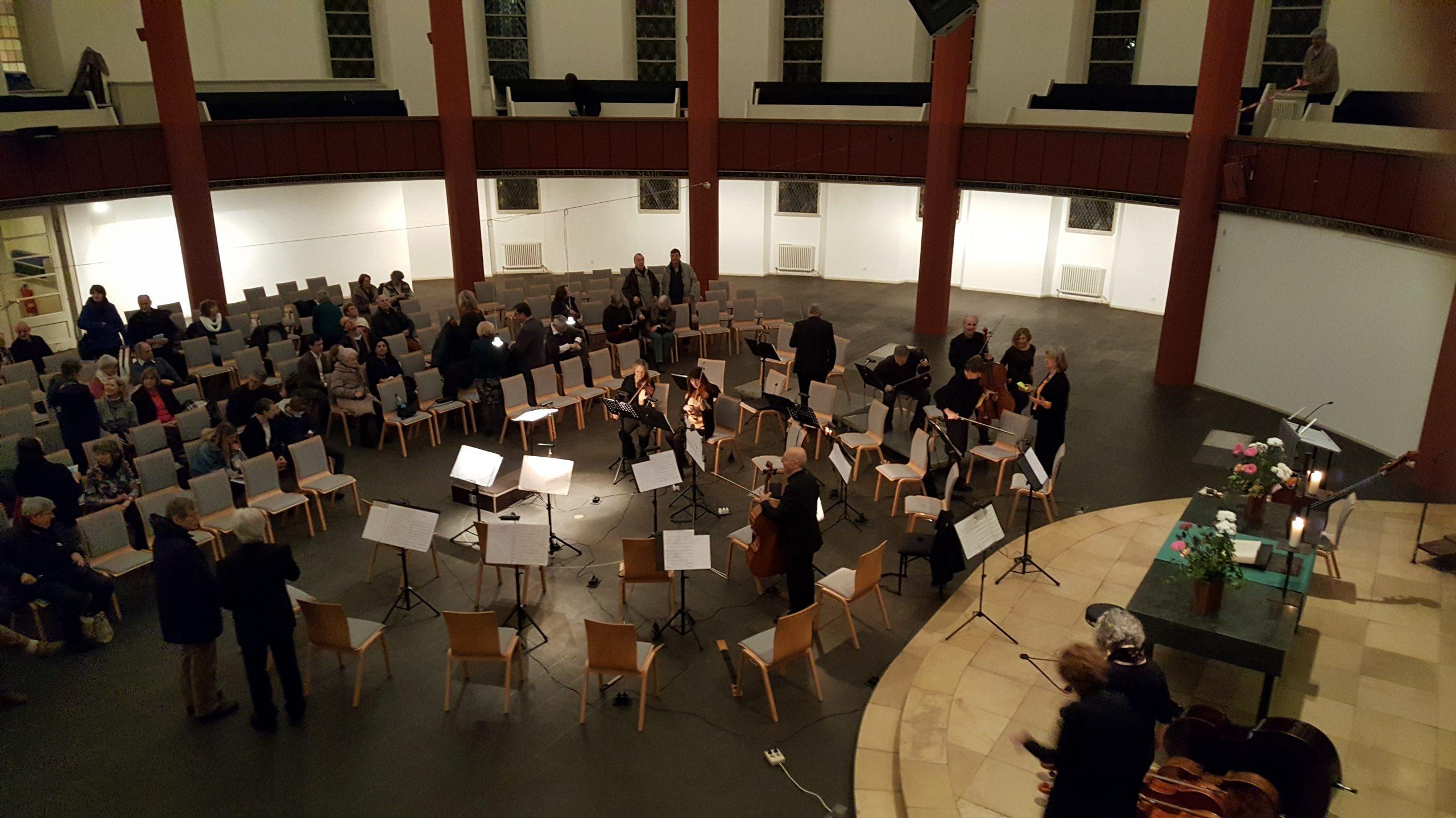 vor dem Konzert Januar 2019, Rundkirche Berlin Tempelhof
